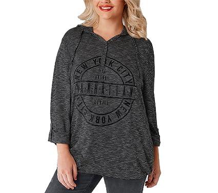 72b9bba75cc1b Gogofuture Grande Taille Femmes Classiques Hoodies Sweat-Shirts À Manches  Longues T-shirt Lâche