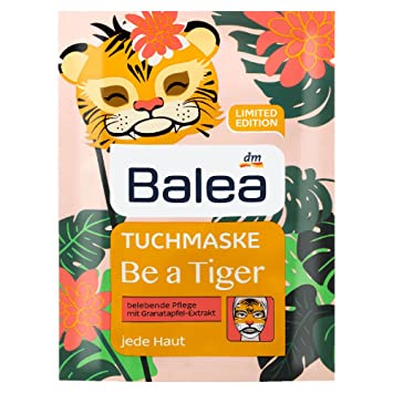 Amazon com : Balea Be a Tiger Facial Sheet Mask with with