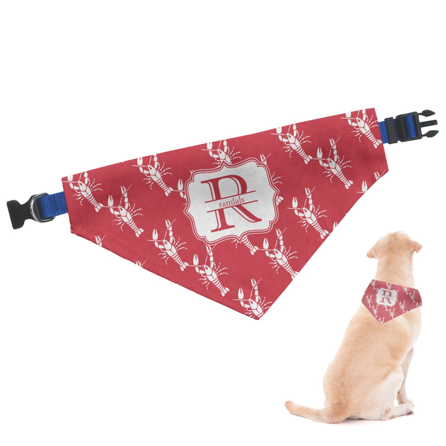 RNK Shops Crawfish Dog Bandana - Small (Personalized)