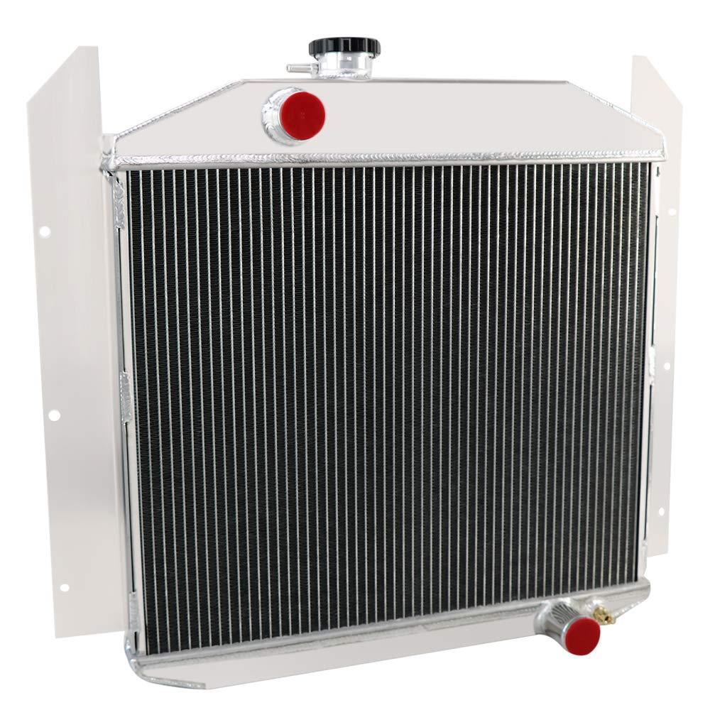 OzCoolingParts 4 Row Core Aluminum Radiator for 1949-1952 1950 1951 Studebaker Champion 2R6 2R5 2R10 2R11 Pickup Truck 4.0L 2.8L