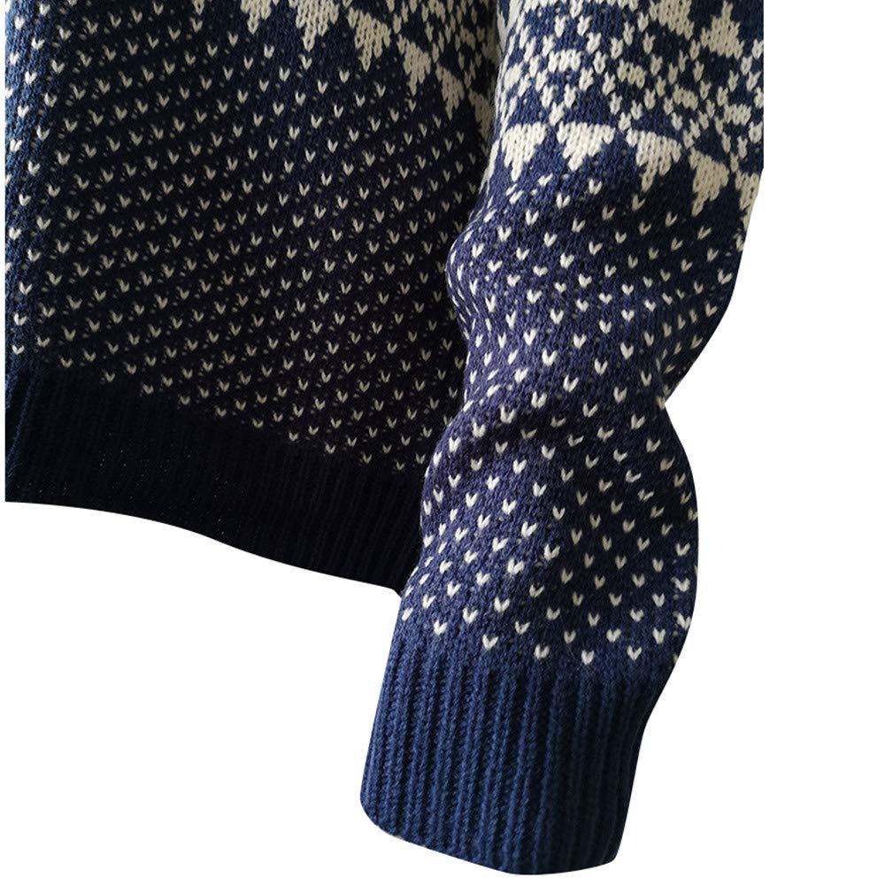 JYC-Suéter para Mujer, Mujeres de Manga Larga de Punto Jersey, Mujer Navidad Suéter Largo Manga O-cuelloNavidad Árbol Tejido de Punto Suéter Tops: ...