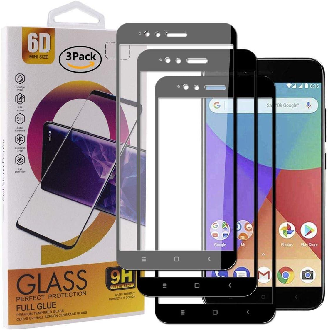 Guran [3 Paquete Protector de Pantalla para Xiaomi Mi A1 Smartphone Cobertura Completa Protección 9H Dureza Alta Definicion Vidrio Templado Película: Amazon.es: Electrónica