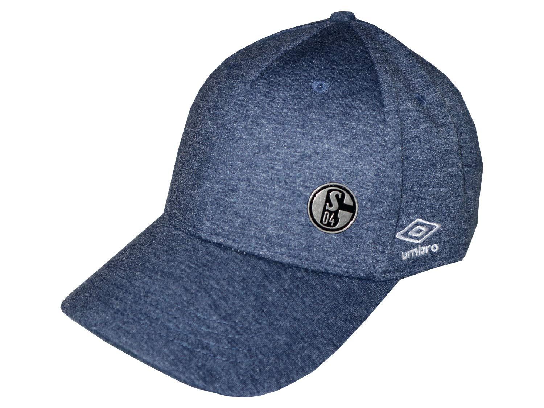 Umbro FC Schalke 04 Cap Jersey Melange blau S04 Fan Basecap Fu/ßball Kappe M/ütze