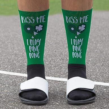Amazon.com: Kiss Me I Play Ping Pong Reproducido Mid Calf ...