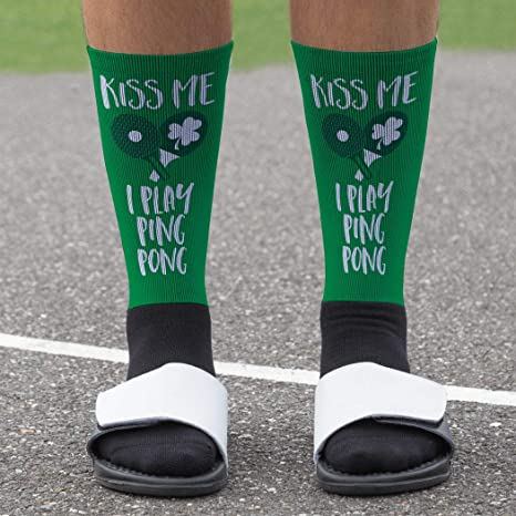 Amazon.com: Kiss Me I Play Ping Pong Reproducido Mid Calf ...