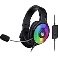 Redragon H350 Pandora RGB Wired Gaming Headset, Dynamic RGB Backlight - Stereo Surround-Sound - 50MM Drivers…