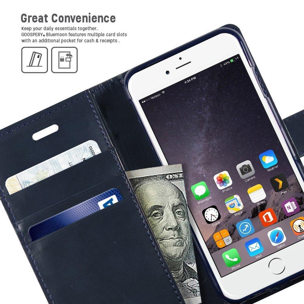 Goospery Iphone 6s 6 Hlle Drop Protection Reg Blue Moon Diary X Flip Case Mint Klapphlle Mit Kartenfach Gizzmoheaven Schutzhlle Tasche Cover Etui