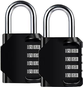 4 Digit Combination Code Lock Anti Rust Padlock Extra Key For Door Gym Locker UK