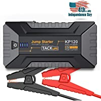 $79 » TACKLIFE KP120 1200A Peak Car Jump Starter for up to 8L Gas and 6L Diesel Engines, 12V Car…