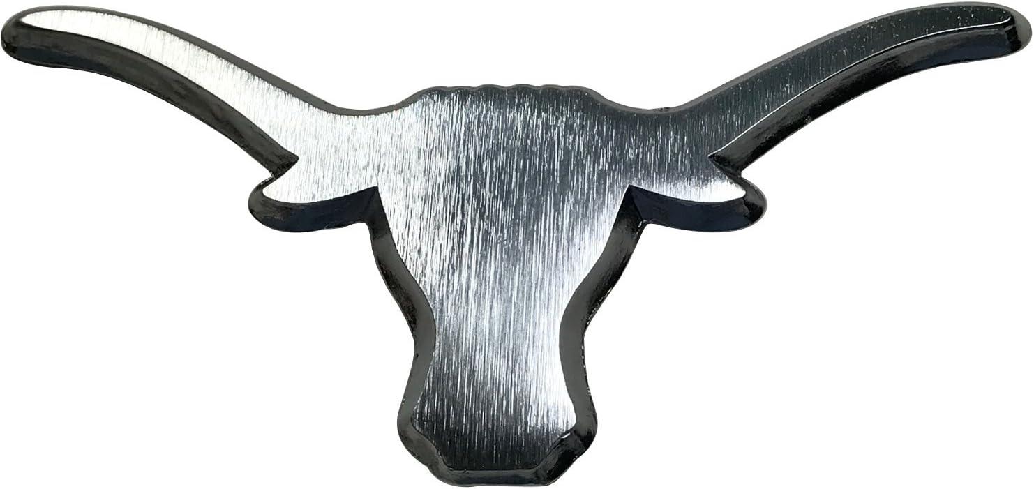 NCAA Collegiate Metallic Acrylic Auto Emblem Texas