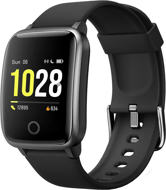 2020 Smartwatch, Reloj Inteligente Impermeable IP68 con Monitor Sueño Pulsómetros Caloría Podómetro Operación con un Clic Deportivo Fitness Smartwatch Reloj Inteligente Mujer Hombre para iOS Android