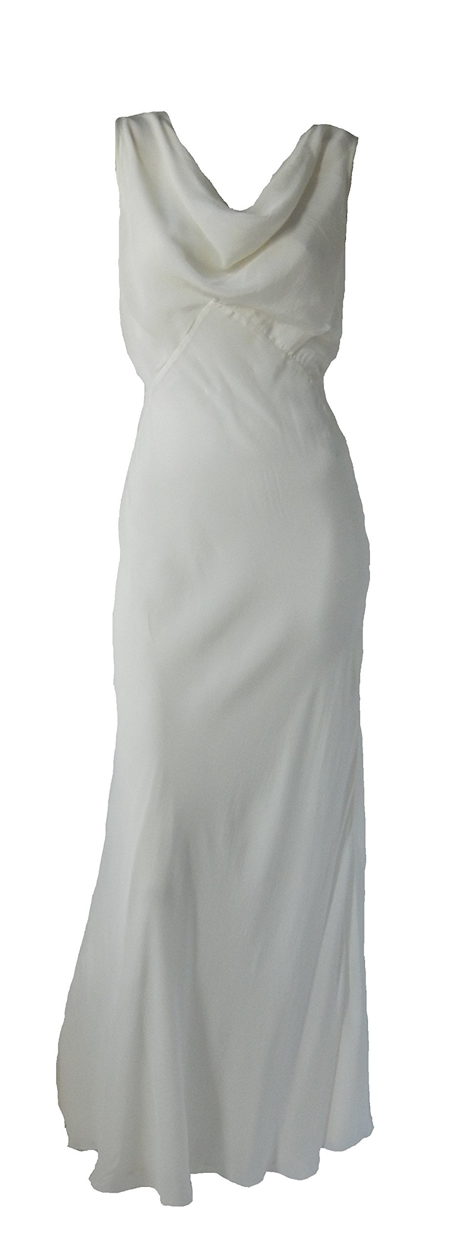 1930s Style Off White Silk Gown