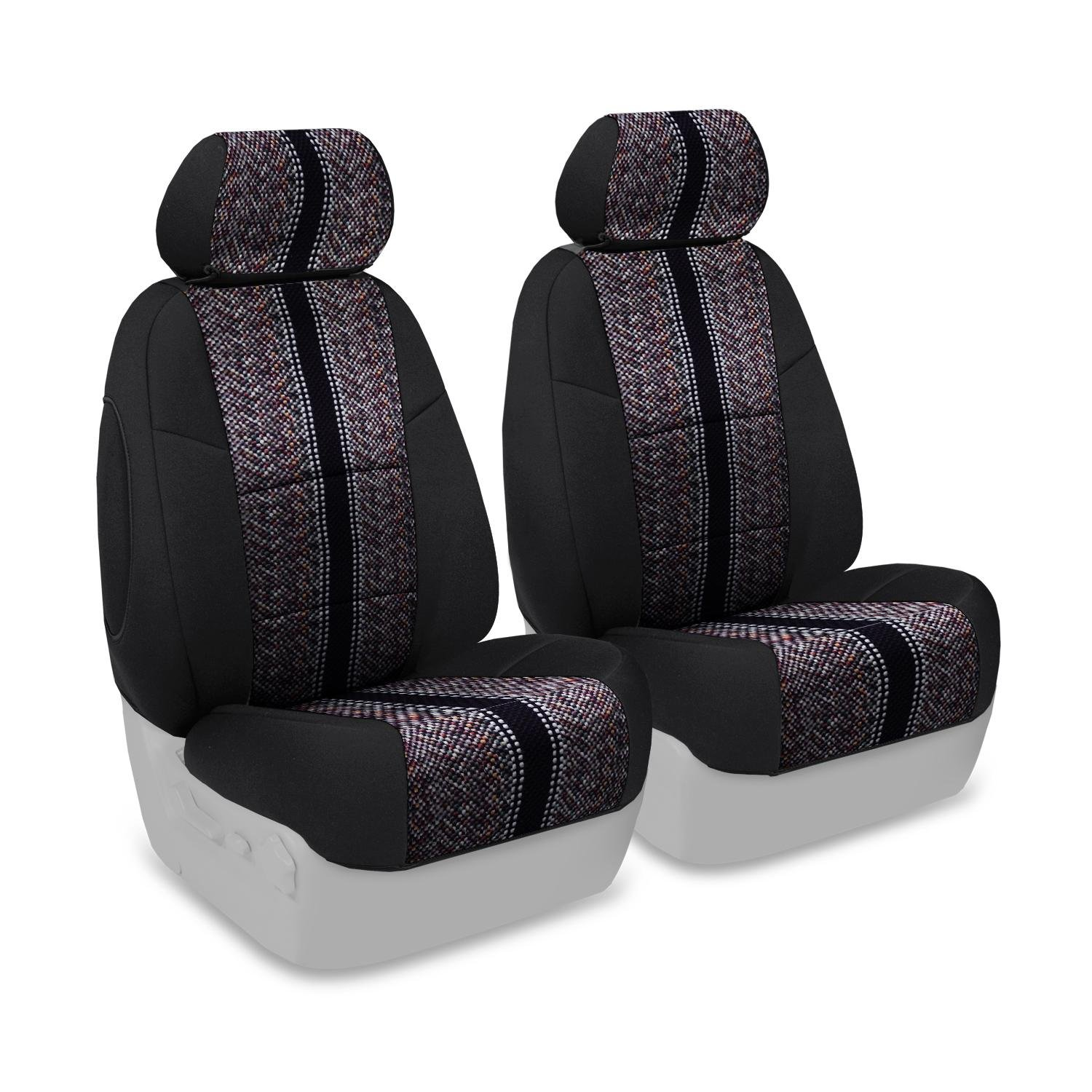 Wine with Neosupreme Wine Sides CSC1D6FD9608 Saddleblanket Coverking Custom Fit Rear 60//40 Bench Seat Cover for Select Ford Edge Models