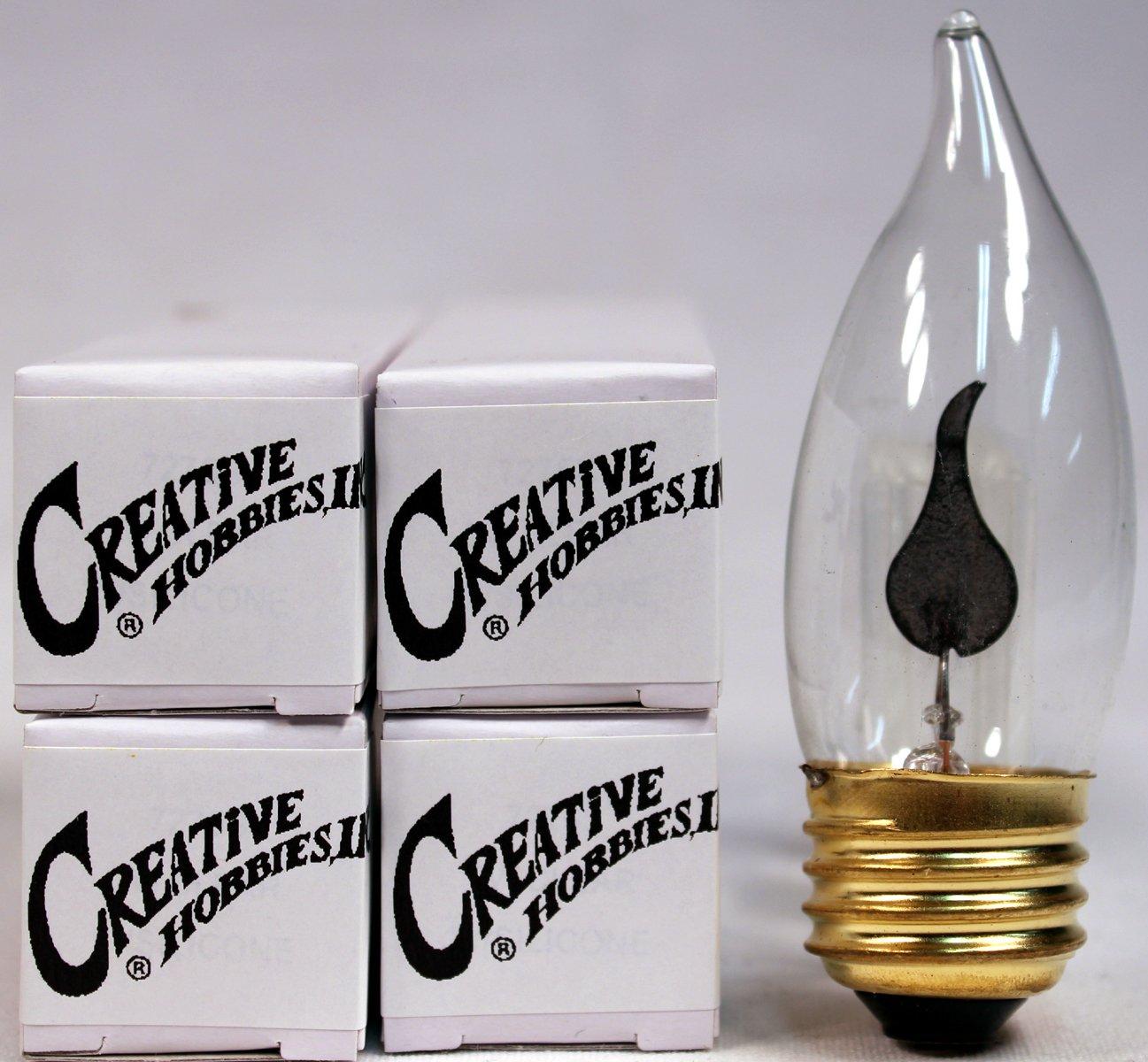 Creative Hobbies 10j Flicker Flame Light Bulb Flame