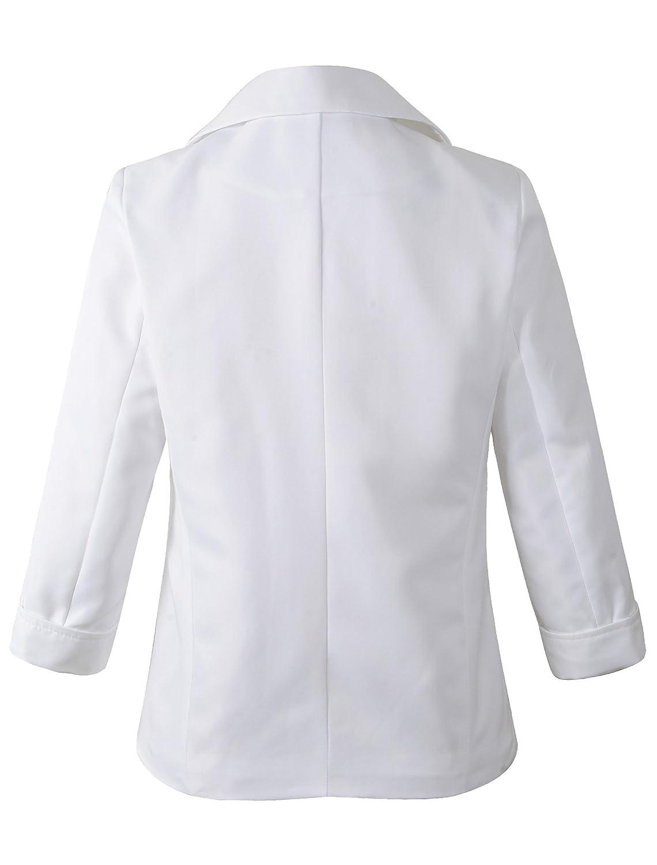 Womens Boyfriend Blazer Tailored Suit Coat Jacket