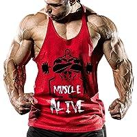 palglg Hombres Camisetas De Tirantes Deportivo Gimnasio Fitness Tops Camisetas T-Shirts Algodón