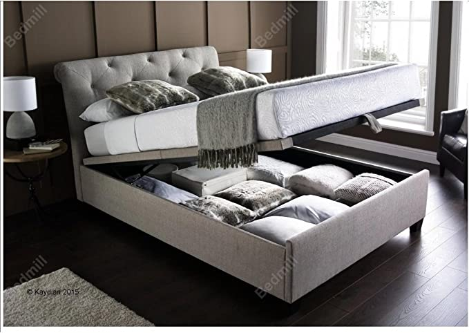Inspiration Beds Kaydian Brunswick 6ft 180cm X 200cm Super King Size Prestbury Fabric Ottoman Storage Bed Amazon Co Uk Kitchen Home