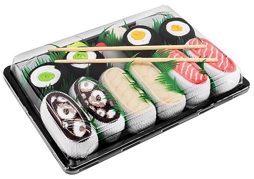 Sushi Socks Box - 5 pares de CALCETINES: Salmón, Pampanito, Pulpo, Maki