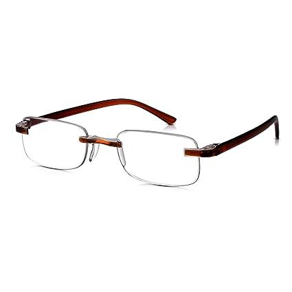 0000302ccf Read Optics Gafas de lectura Delgado Sin Monturas: lentes transparentes  para hombres / mujeres antideslumbrantes, elegantes, ...