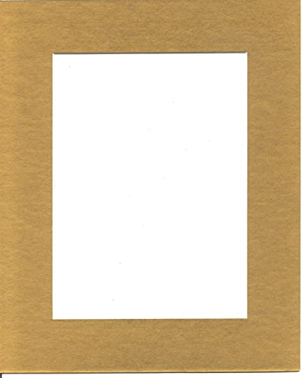 Amazon.com: 25 5x7 Gold Picture Mats with White Core, for 4x6 ...