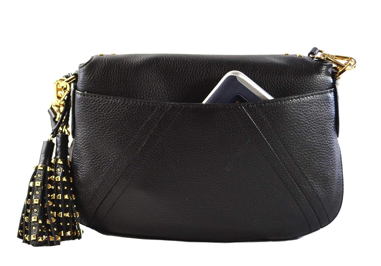 3048a64df966f8 Michael Kors Aria Studded Tassel Medium Convertible Leather Shoulder  Crossbody Bag Purse Handbag (Black): Handbags: Amazon.com