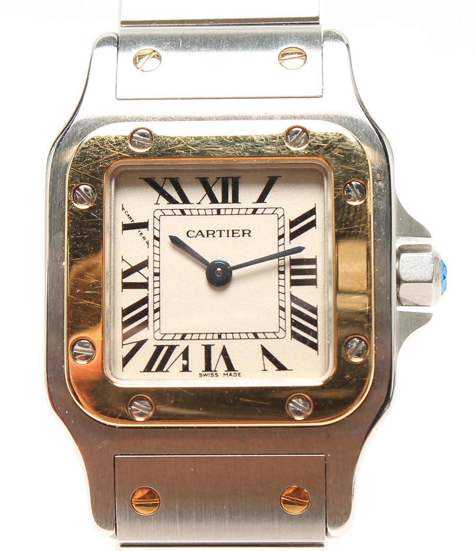 カルティエ 腕時計 サントスガルベSM W20012C4 クォーツ ホワイト Cartier レディース 【中古】 B07DY75YRY