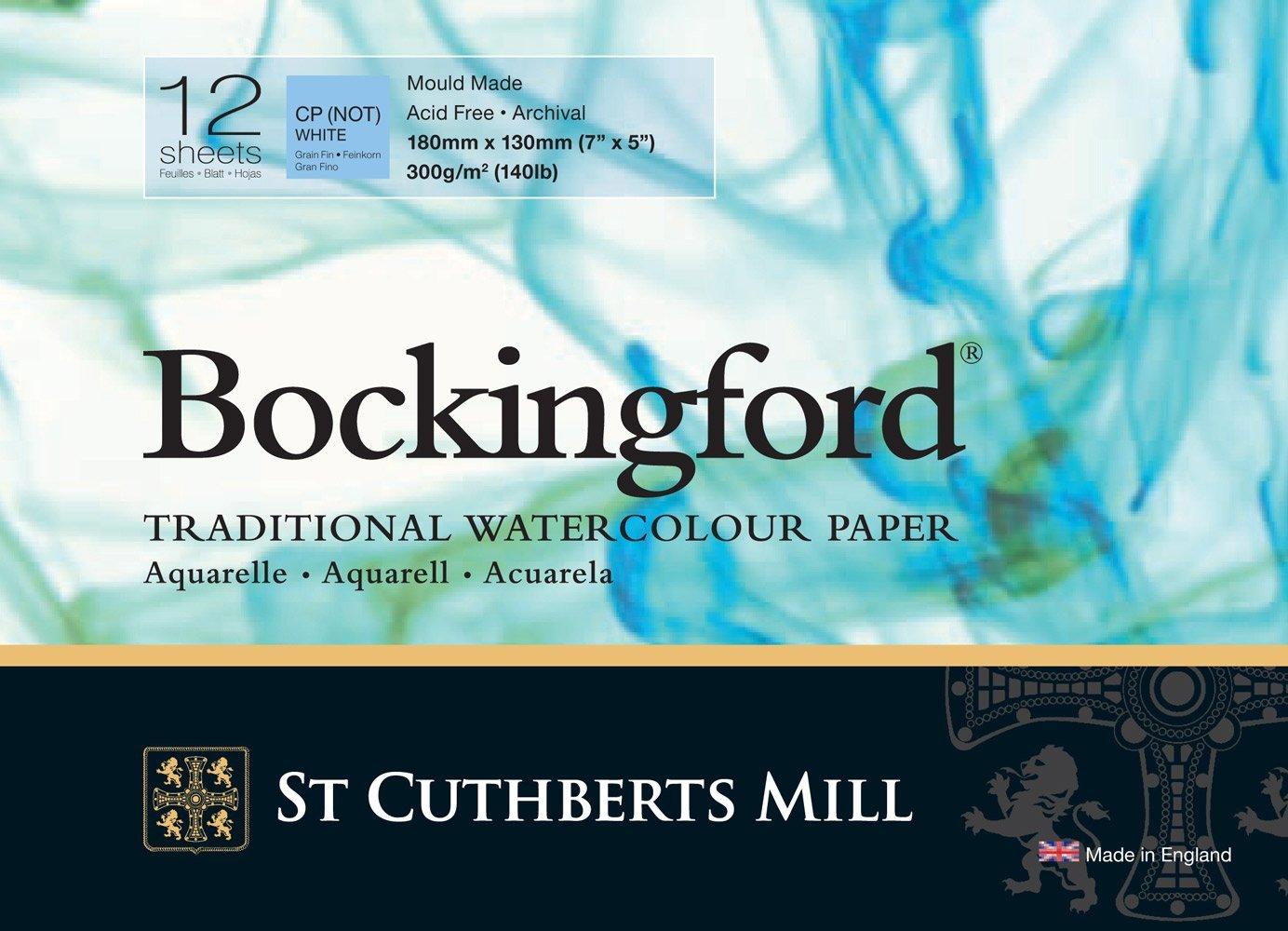 Bockingford 300gsm Glued Watercolour Pad 7' x 5' (180 x 130mm) R K Burt & Co Ltd