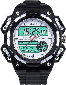 Blisfille Reloj para Deporte Hombre Reloj Acero Mujer Negro Reloj con Varias Correas Reloj de Doctor Relojes Digitales Rectangular: Amazon.es: Deportes y aire libre