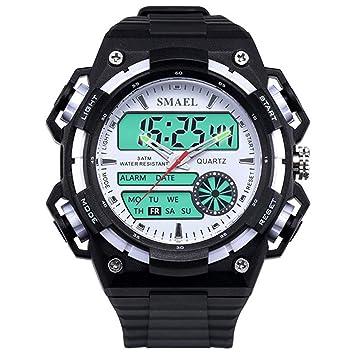 Blisfille Reloj para Deporte Hombre Reloj Acero Mujer Negro Reloj con Varias Correas Reloj de Doctor Relojes Digitales Rectangular: Amazon.es: Deportes y ...