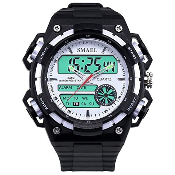 Beydodo Reloj Impermeable Reloj de Estudiante Reloj Deportivo Reloj de Doble Pantalla Reloj Hombre Moda Relojes