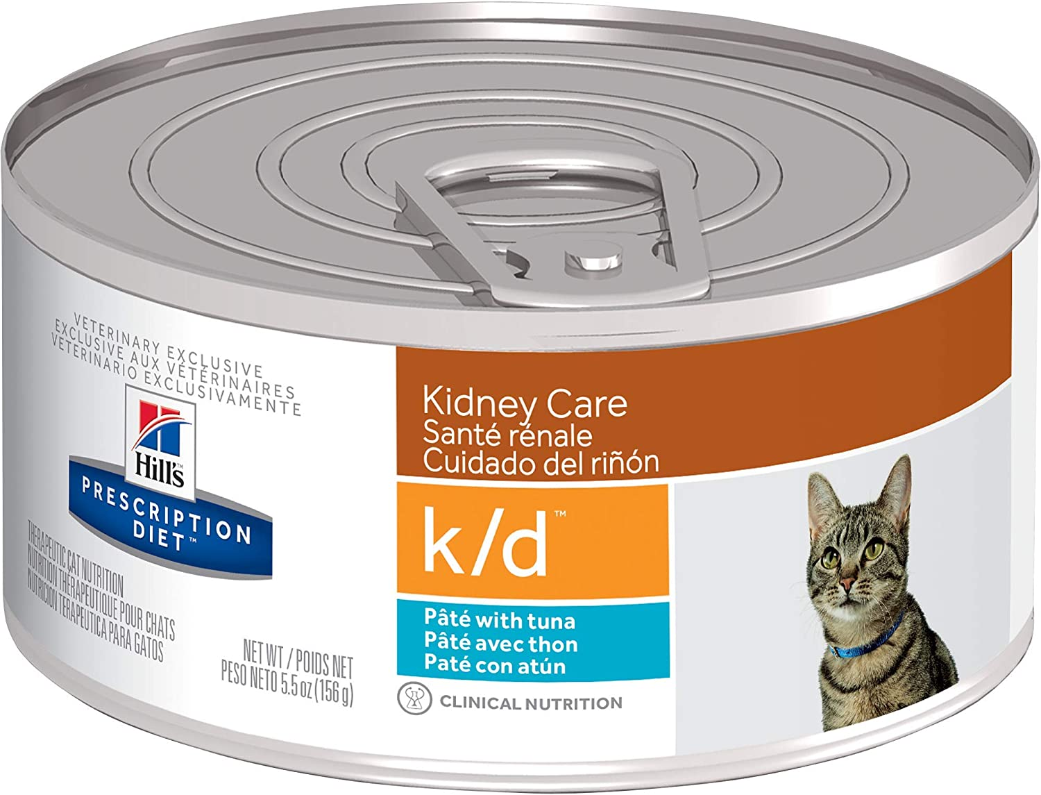 Hill's Prescription Diet k/d Kidney Care with Tuna Canned Cat Food, 5.5 oz, 24-pack wet food