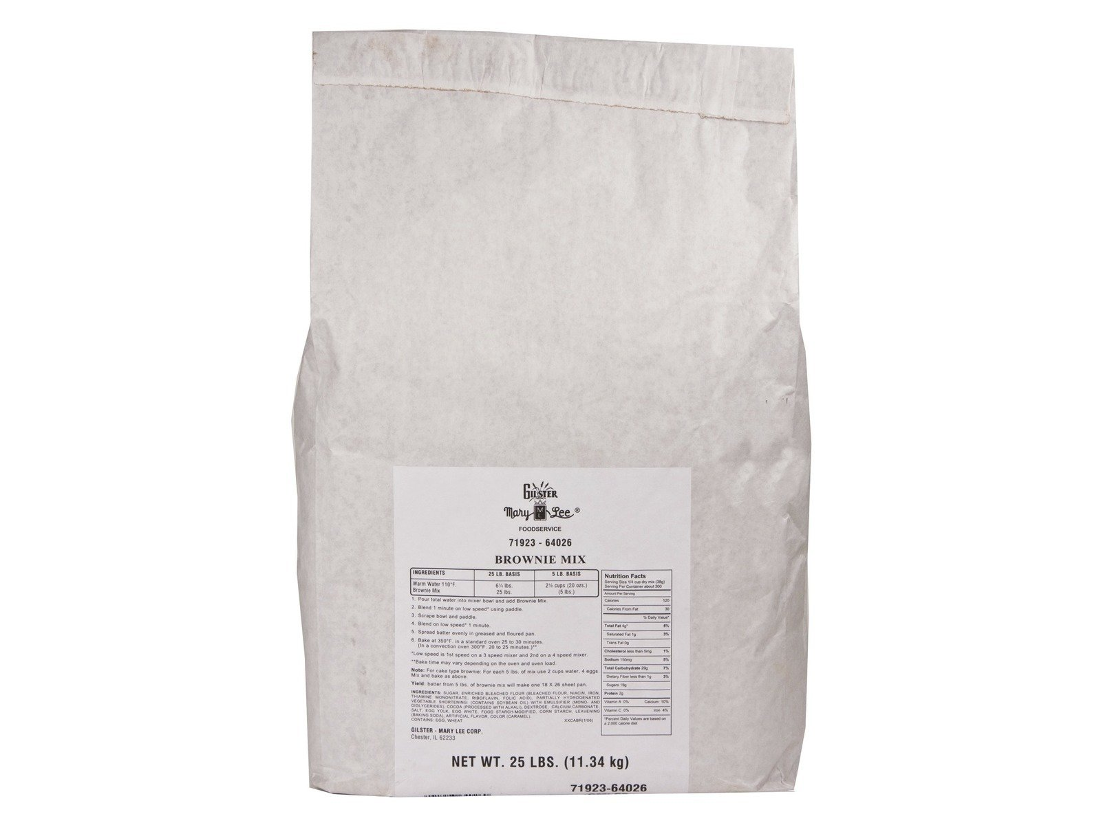 Bulk Brownie Mix - One Pound - Gilster Mary Lee