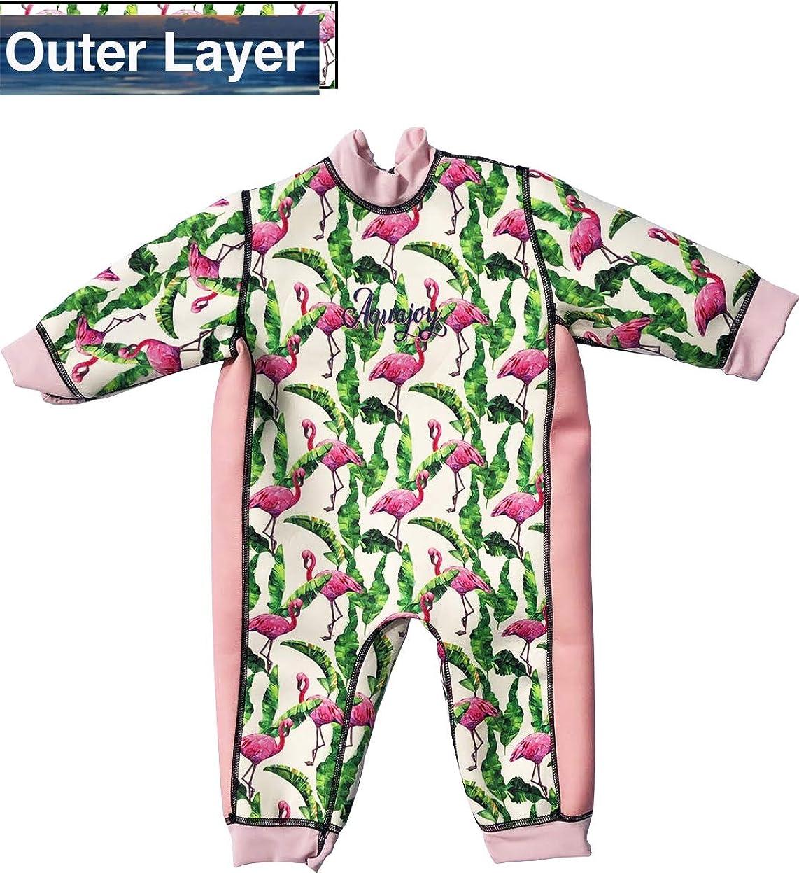 Warmer Badeanzug Aquajoy Warmsy Wendeanzug f/ür Babys Neugeborene und Kinder Baby-Badeanzug f/ür Jungen und M/ädchen extra warm 2-in-1-Design f/ür Kleinkinder