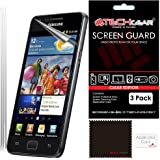 [Pack of 3] TECHGEAR® Samsung Galaxy S2 (i9100 S2) ULTRA CLEAR LCD Screen Protector Guard Covers With Cleaning Cloth & Application Card