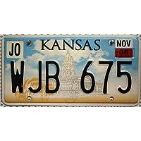 USA Nummernschild KANSAS ~ US Kennzeichen License Plate ~ Blechschild
