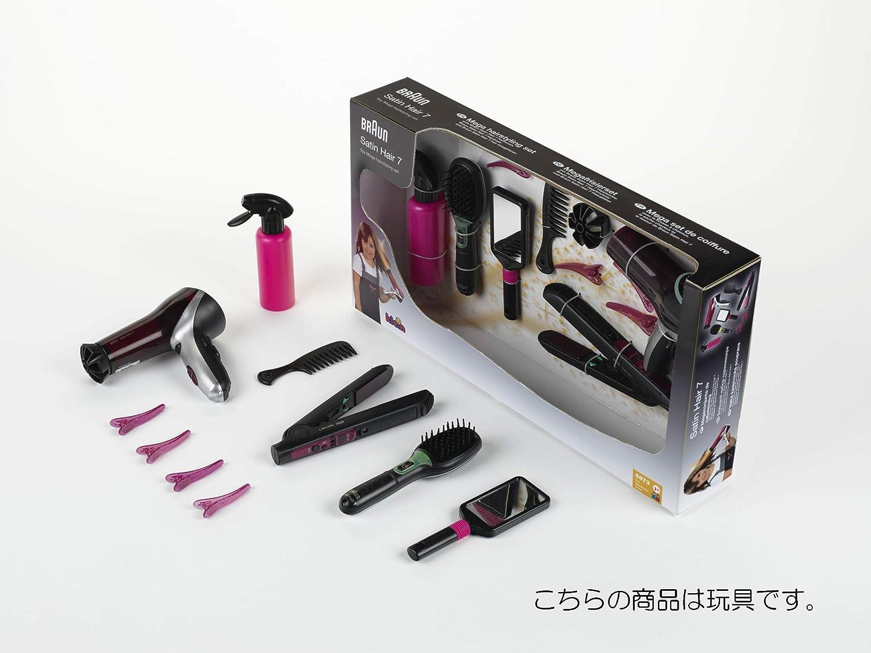 Theo Klein-5873 Mega Set de peluquería con Cepillo, secador Plancha de Pelo de Braun satín Hair 7