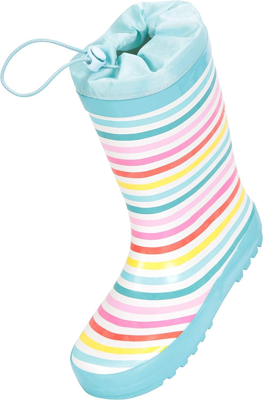 Mountain Warehouse Rainbow Kids Rubber Mesh Lined Rain Boots