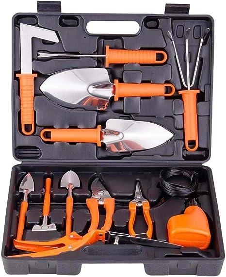 Amazon Com Yafei Set 14 Pieces Stainless Steel Gardening Gifts For Women Men Gardener Sprayer Gardening Gifts For Women Men Orange Garden Outdoor