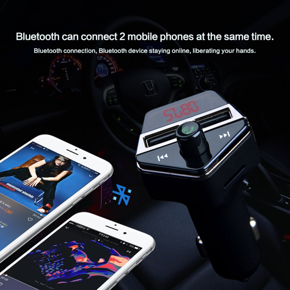 GPS Tracker for Vehicles, Colisivan Car Finder Bluetooth FM Transmitter for Car Kit Vehicle Tracking Device Car Radio Receiver with 4.2A Dual USB Quick Car Charger by Colisivan (Image #3)