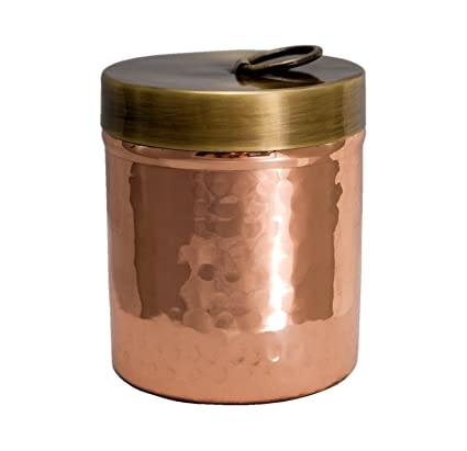 Premium Quality Hammered Copper Spice Jar with Brass Lid - 100% Pure Heavy Gauge Copper  sc 1 st  Amazon.com & Amazon.com - Premium Quality Hammered Copper Spice Jar with Brass ...