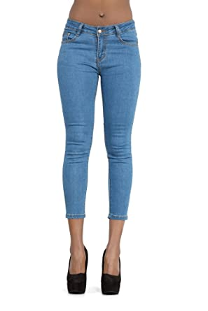 5fcd776a274 Image Unavailable. Image not available for. Colour  Womens Sexy Blue Skinny  Fit Jeans ...