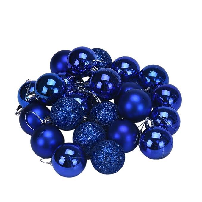 Bestow Decoración árbol de Navidad Bola decoración para el hogar (tamaño Libre, Azul)