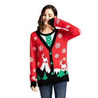 Deals on TWOTWOWIN Unisex Womens Christmas Ugly Sweater