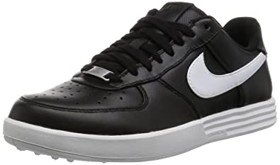 sports shoes 3f74b caf13 Nike Lunar Force 1 Golf Shoes, Black White, 9 E - Wide