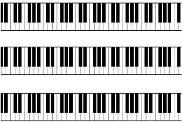 Piano Keys / Keyboard - Edible Icing Cake Side Strips