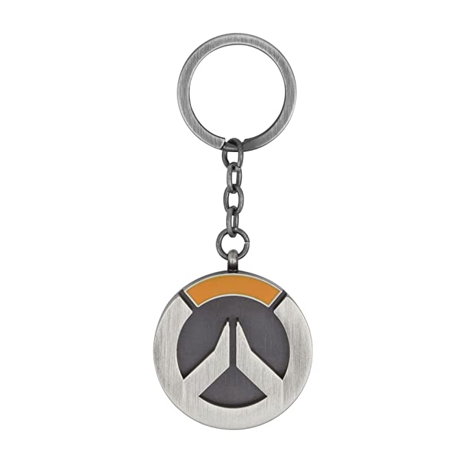 JINX Overwatch Logo Metal Key Chain, Metallic, One Size