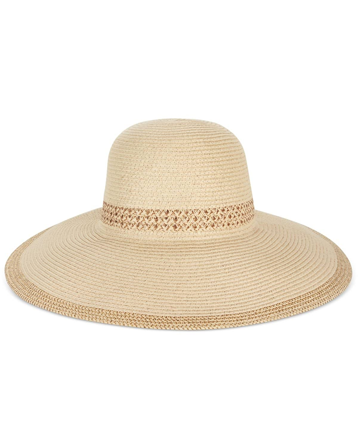 ed7b06de846 AUGUST HAT COMPANY Gold Metallic Trim Floppy Sun Hat at Amazon Women s  Clothing store