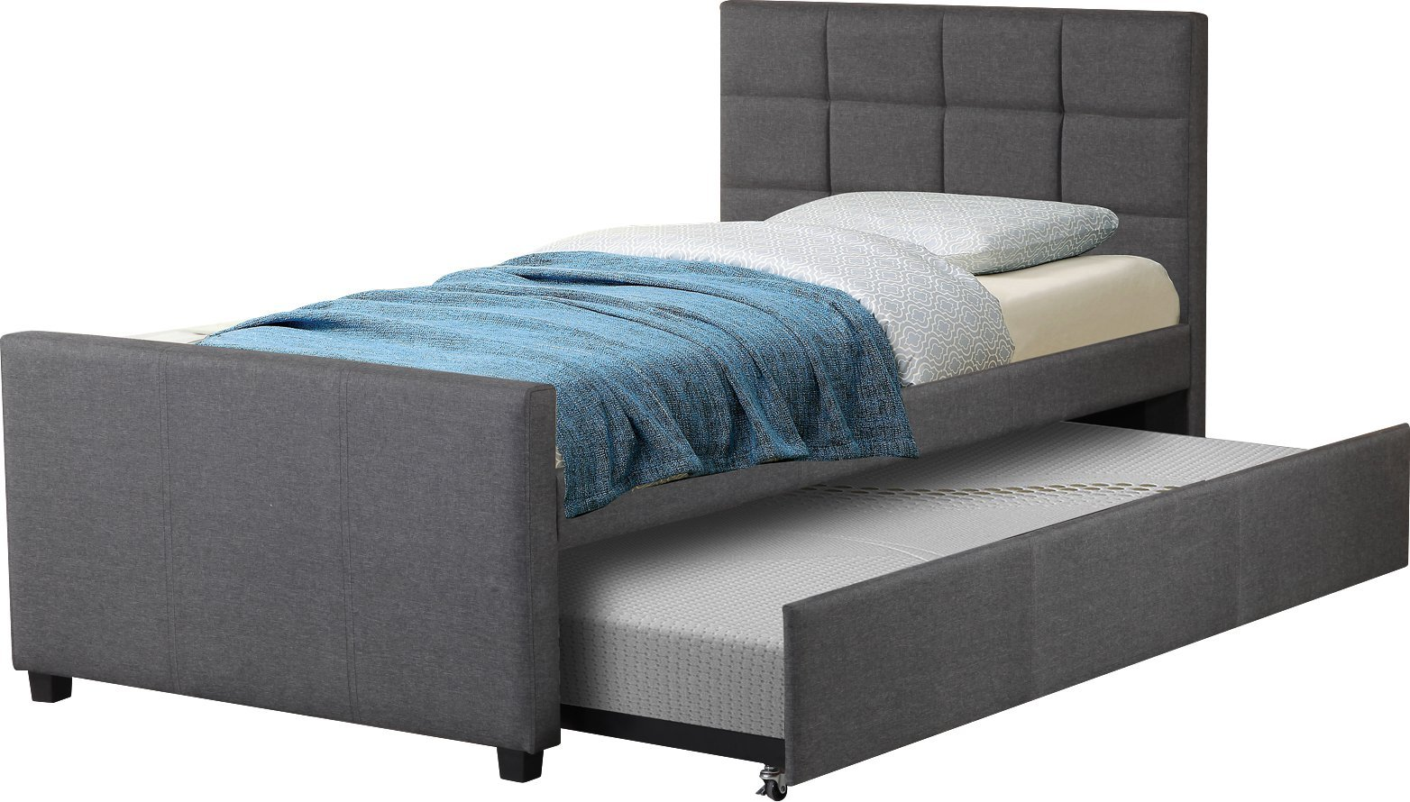 Best Quality Furniture K20 Upholstered Twin Bed, by Best Quality