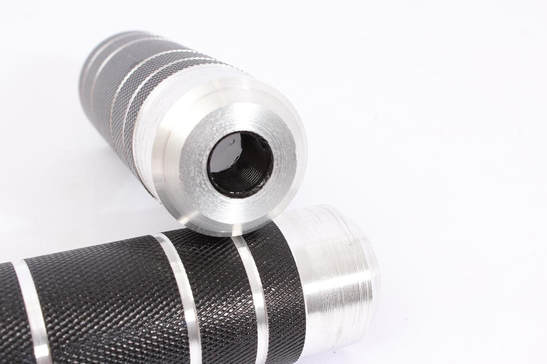 KHE Cop BMX Pegs 14/mm rosca aluminio negro Par solo 246/g t44