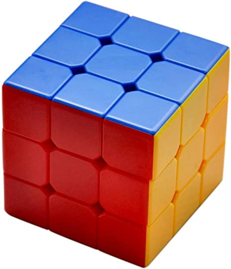 Wares Kart High-Speed Adjustable Speed Cube 3x3x3 with Multicolor